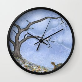 eastern box turtle in autumn Wall Clock