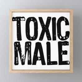 Subtle MGTOW Shirt for Men, Toxic Male TShirt Black Framed Mini Art Print
