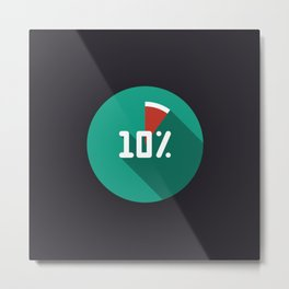 """Print illustration """"percentage - 10%"""" with long shadow in new modern flat design Metal Print"""