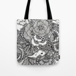 Adventure of Tiny Land Whales Tote Bag