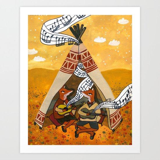 Wigwam Waltz Art Print