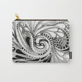 Swirling Around Monochrome Carry-All Pouch