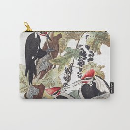 Pileated woodpecker edit, Birds of America, Audubon Plate 111 Carry-All Pouch