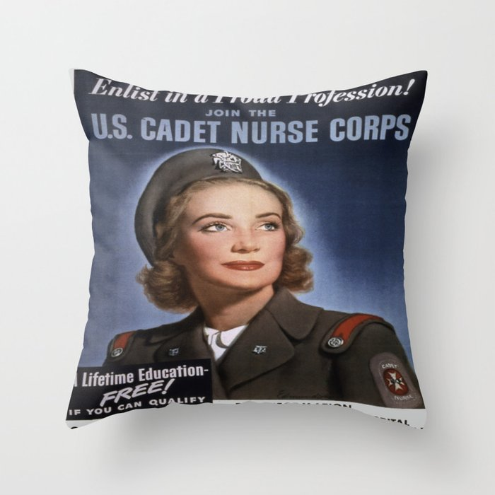 Vintage poster - U.S. Cadet Nurse Corps Throw Pillow
