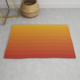 Gradient, Yellow Red Rug