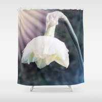 shining Shower Curtains featuring Shining Light by Lynn Bolt