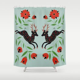 Holiday Deer Shower Curtain