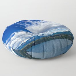 Sky and Mountain Floor Pillow