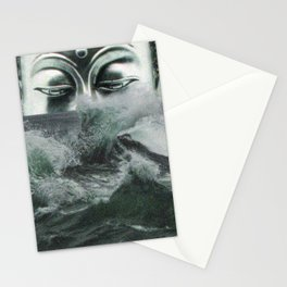 Buddha in the sea Stationery Cards