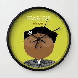 Fearless like Rosa Parks Wall Clock