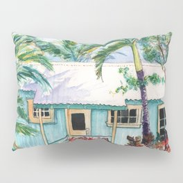 Tropical Vacation Cottage Pillow Sham