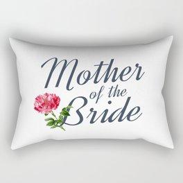 Elegant Mother of the Bride Floral Wedding Calligraphy Rectangular Pillow