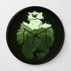 Hunting Season - Green Wall Clock