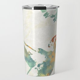 Colorful Teal Hummingbird Art Travel Mug