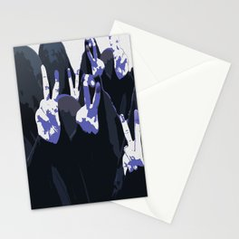 Blue Ink Victory Stationery Cards