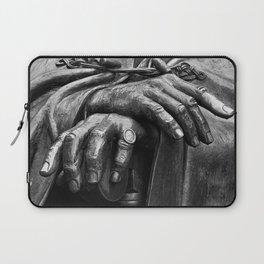 Hands of Wisdom - Black & White Laptop Sleeve