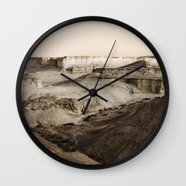 Massada Sandstone Terraces Wall Clock