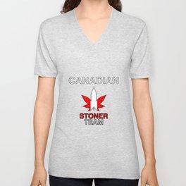 Canadian Stoner Team Weed Unisex V-Neck