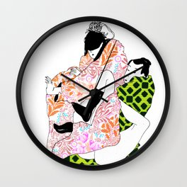 Bodies in boxes Wall Clock