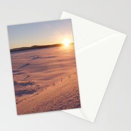 Swedish lapland in Arjeplog, winter time Stationery Cards
