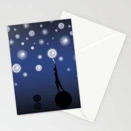The dark is necessary to see the stars... Stationery Cards