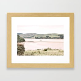 Boats on the water (color) Framed Art Print