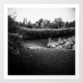 A Parisian Relaxing in a Park in Paris - Holga Film Photograph Art Print