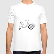 Spin Bike White Mens Fitted Tee MEDIUM