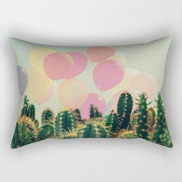 Balloons and cactus Rectangular Pillow