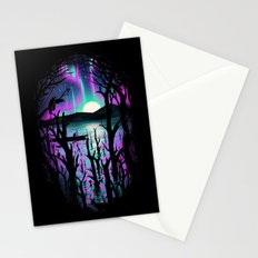 Night With Aurora Stationery Cards