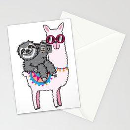 Sloth Music Llama Stationery Cards