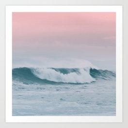 Pale ocean Art Print