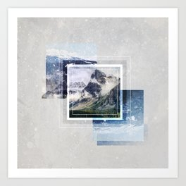 Inspiring mountain Art Print