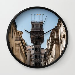 Santa Justa Elevator, Lisbon - Portugal Wall Clock