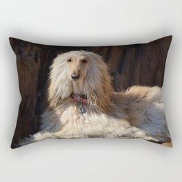 Afghan Hound Portrait Rectangular Pillow