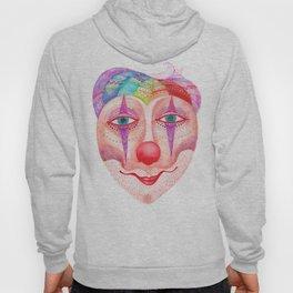 trust the clown mask portrait Hoody