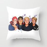 boys Throw Pillows featuring Boys by gabitozati