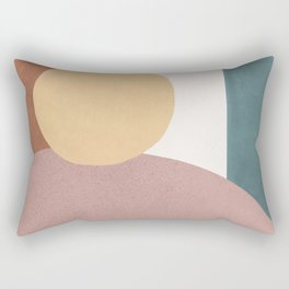 Abstract Earth 1.1 - Painted Shapes Rectangular Pillow