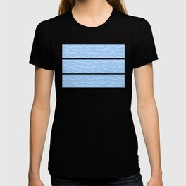 Light Blue (Lighter) with White Squiggly Lines T-shirt