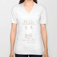 house V-neck T-shirts featuring House by Frances Roughton