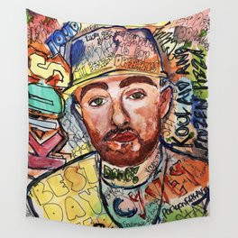 KIDS,colourful,colorful,poster,wall art, fan art,music,hiphop,rap,rip,rapper,legend,best day ever Wall Tapestry
