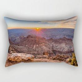 Photo Grand Canyon Park USA Arizona Nature Canyon Mountains Scenery Sunrises and sunsets canyons mountain sunrise and sunset landscape photography Rectangular Pillow