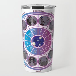 Starlight Zodiac Wheel Travel Mug