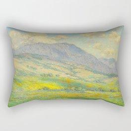 Granville Redmond Hazy Day in Antelope Valley, 1932 Oil Painting Vintage American Art Rectangular Pillow