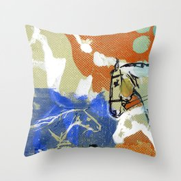Sport Horse Throw Pillow