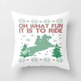 Riding Horse Christmas Throw Pillow