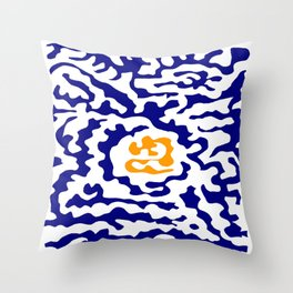 Abstraction in the style of Matisse 49 orange and blue Throw Pillow
