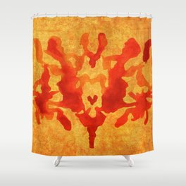 Burgundy mark Shower Curtain