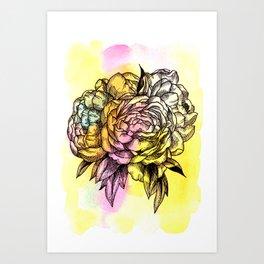 Plant Series: Peony Art Print