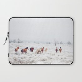 Winter Horses Laptop Sleeve